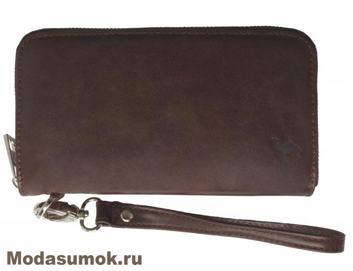 45a6ea872599 Клатч мужской -портмоне из натуральной кожи Dimanche 216 коричневое ...
